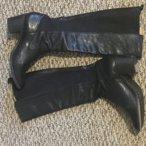 EXCELLENT Black Frye Leather Tall Boots 10